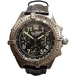 Poljot 5177 - Reloj , correa de cuero color negro