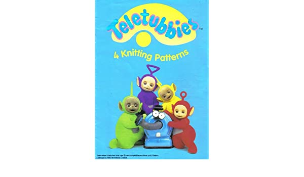 Childrens And Adults Teletubbies Motif Sweaters 4 Knitting Pattern