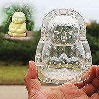 Bluelover Frutti a forma di Buddha che modella stampo giardino mela pera pesca crescita formando muffa strumento - 7,5 cm