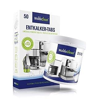 Pflegeset 50x Entkalkungstabletten & 260x Reinigungstabletten für Kaffeevollautomaten Kaffeemaschine - kompatibel mit allen Maschinen