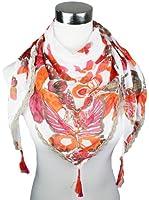 Mevina Damen Dreieck Halstuch Schmetterling Butterfly Print aus Baumwolle