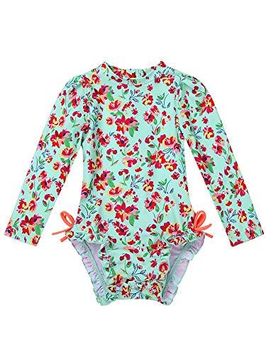 MSemis Traje de Baño Protección Solar para Bebé Niñas Bañador Estampado Flores Camiseta de Piscina...