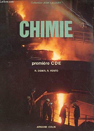 CHIMIE - CLASSE DE PREMIERE CDE - EN 2 VOLUMES / LIVRE DE L'ELEVE + LIVRE DU PROFESSEUR (TAMPON SPECIMEN) / COLLECTION JEAN LACOURT.