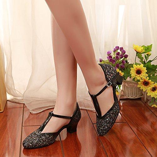 Minitoo Danse de Salon Femme Black-5cm Heel