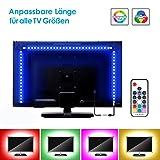 LED TV Hintergrundbeleuchtung 3m Kit Zuschneidbar Für Alle TV Größen, BSLED RGB 5050 led Strip mit Fernbedienung USB Anschluss TV Beleuchtung