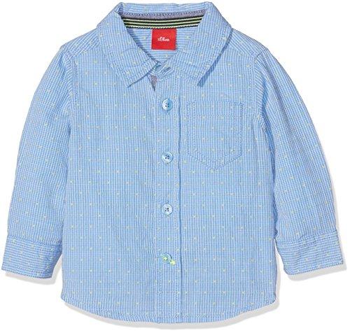 s.Oliver Baby-Jungen Hemd Langarm, Blau (Light Blue Check 53n3), 74