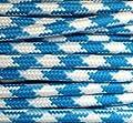 Textilkabel Stoffkabel blau / weiss 3-adrig rund von Globe Warehouse - Lampenhans.de