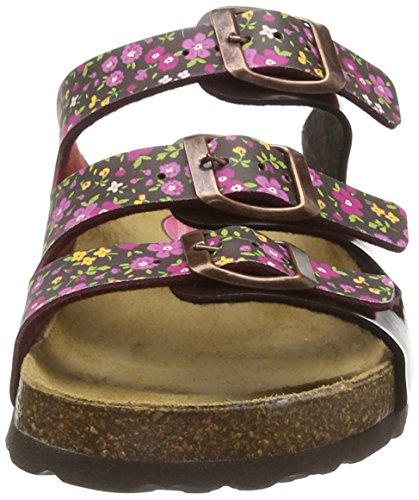 Pferdefreunde 500215, Chaussures de Claquettes fille Rouge - Rot (Burgund)