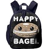 Happy Bagel Black Kid and Toddler Student Backpack School Bag Super Bookbag