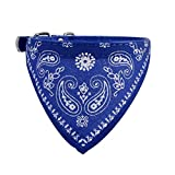 Bescita Adjustable Pet Dog Puppy Cat Neck Scarf Bandana Collar Neckerchief 30.5*0.9cm (Blue)