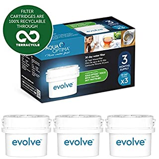 Aqua Optima Evolve 3 month pack, 3 x 30 day water filters - Fit BRITA* Maxtra* (not Maxtra+*) - EVS301