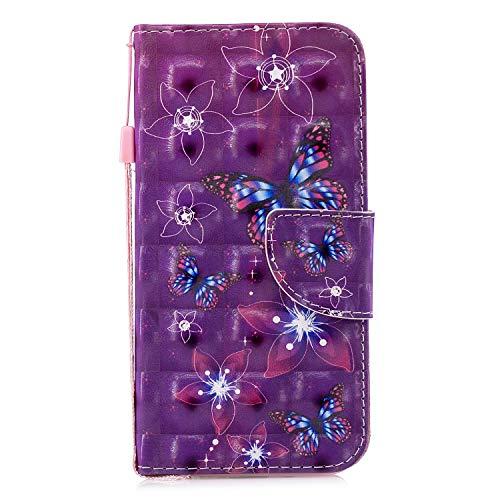 Uposao Handyhülle für Samsung Galaxy Note 8 Handytasche Glänzend Glitzer Retro Muster Klapphülle Bookstyle Brieftasche Ledertasche Leder Hülle Standfunktion,Rosa Schmetterling Blumen