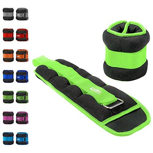 Umi. Essentials, pesi per polsi/gambe con lacci regolabili, 1 kg, colore verde