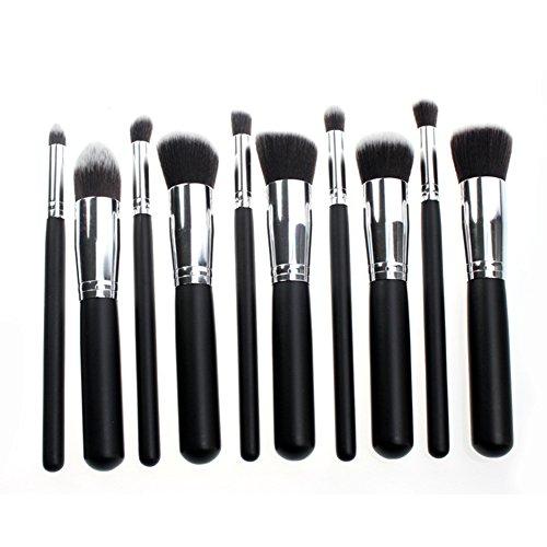LianLe®Set de 10 pinceaux à maquillage finition Noire