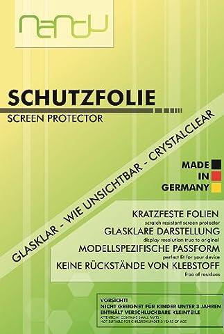 2 x nandu Panzerfolie für HTC One M7 - Displayschutzfolie Panzerschutzfolie One M7 Folie