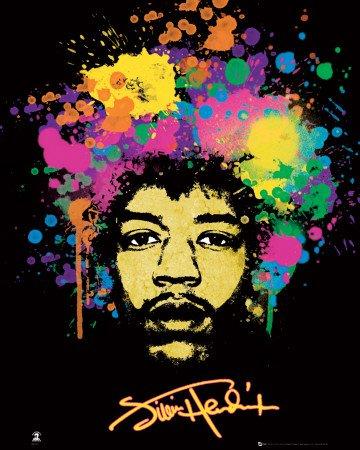 1art1 48446 Jimi Hendrix, Poster psichedelico, 91 x 61 cm
