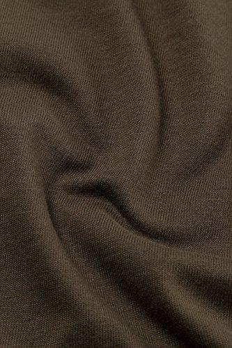 Ulla Popken Damen Sweatshirt Shirt mit Knopfleiste, Langarm Große Größen Moosgrün