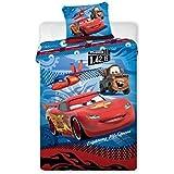 Juego de sábanas de Cars Disney–Funda de edredón Reversible cama individual