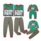 Binwwe Baby Strampler Baby Jungen Mädchen Schlafanzug Baumwolle Overalls 2018 Baby Säugling Spielanzug Weihnachten Strampler Overall Baby-Nachtwäsche (12-18m, Baby)