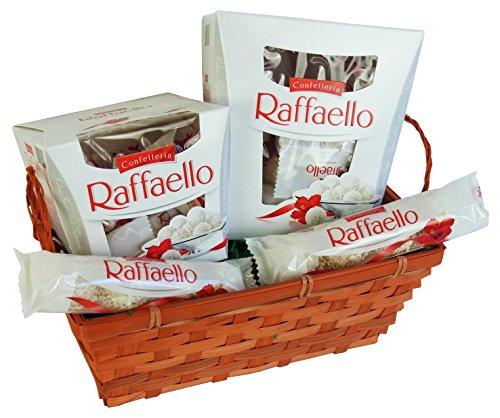 Geschenk Set Liebeszauber für Valentinstag, Muttertag und Geburtstag mit Ferrero Raffaello (4-teilig)