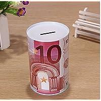Preisvergleich für Abenily Münzen-Spardose-Geschenkbox Boutique Euro Metall Zylinder Sparschwein Premium Weißblech Geld Bank Kind Geschenk (A-Abschnitt)