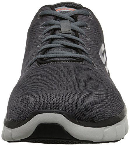 Skechers Synergy Fine Tune, Chaussures Multisport Outdoor Homme Gris (Ccbk)