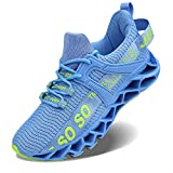 Damen Laufschuhe Walking Athletic für Frauen Casual Slip Fashion Sports Outdoor-Schuhe, Blau, 36 EU