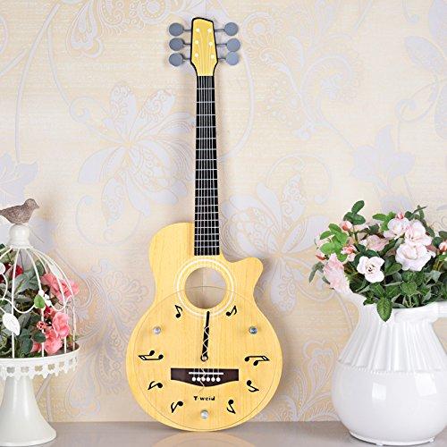 LFNRR Kreative Mode Musik instrumente Kunst Wanduhr home Zubehör gitarre bass Wanduhr Schöne Dekoration