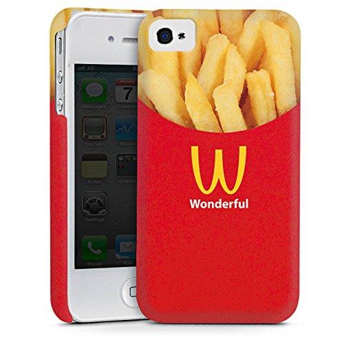 Apple iPhone 5s Housse Outdoor Étui militaire Coque Pommes Fast Food Frites Cas Premium mat