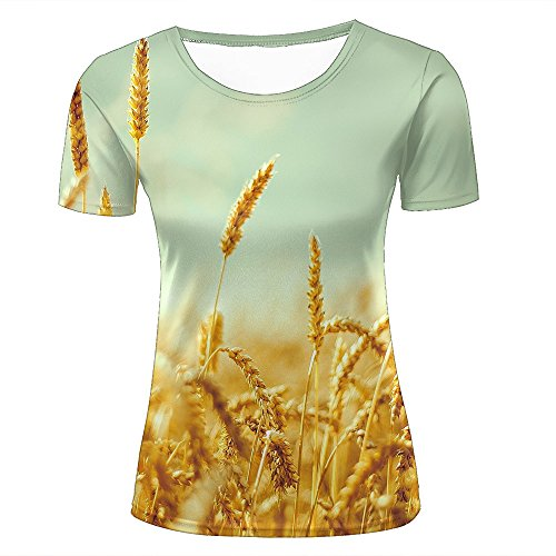 ouzhouxijia Mens T-Shirts 3D Printed Autumn Harvest Graphic Couple Tees C