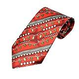 Xmiral Christmas Krawatte Santa Baum Rentier Print Floral Weihnachten Festival Tie(F)
