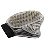 #3: Mayzo Multifunctional Pet Grooming Brush Glove, Massage Tool, Furniture Pet Hair Removal Mitt. for Long and Short Hair of Dogs, Horses, Cats, Bunnies.