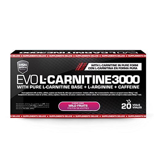 fe58f3a9eb8ba Carnitina Líquida de HSN Sports – Evo L-Carnitine 3000 - Pérdida de Peso,  Quemagrasas, Fat burner con Arginina, Cafeína - Sabor Frutas ...