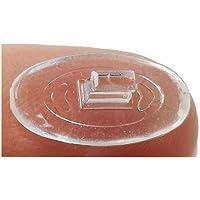 """10 Paires Ovale 15 mm #2 / 0.6"""" Nose Pads Plaquette Nez Lunettes En Silicone Pousser"""