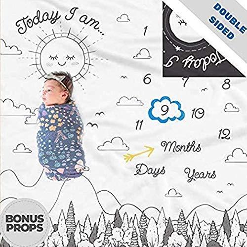 Manta de doble cara para el cumple mes del bebé