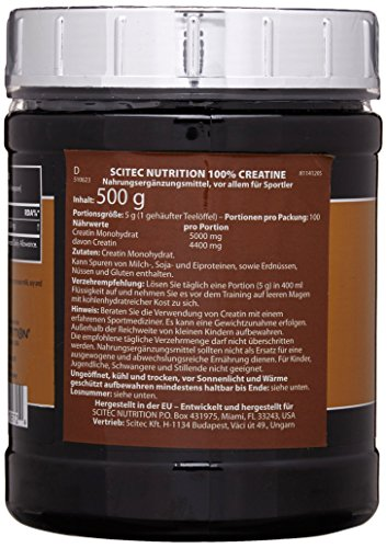 Scitec Nutrition Creatin Monohydrate, 1er Pack (1 x 500 g) - 5