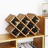 Casier à vin présentoir à Bouteilles en Bois avec présentoir à Bouteilles (5 Bouteilles et 8 Bouteilles)