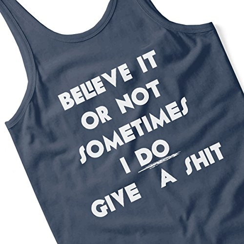 Believe It Or Not Sometimes I Do Give A Shit Women's Vest Navy blue