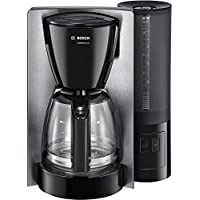 Bosch TKA6A643 - Cafetera de goteo (jarra de vidrio especial aroma, selección de desconexión automática en 20/40/60 minutos, 1.200 W), acero inoxidable/negro