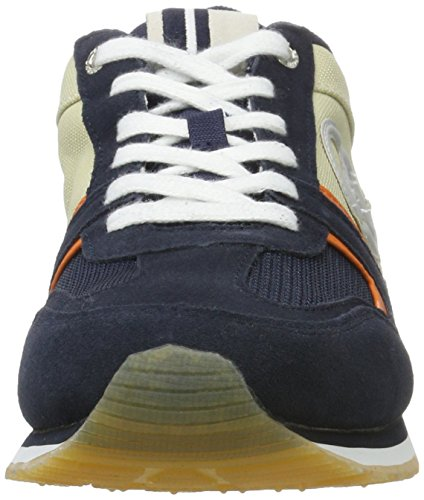 Sergio Tacchini Herren Les Club Low-Top Multicolore (White/Navy)