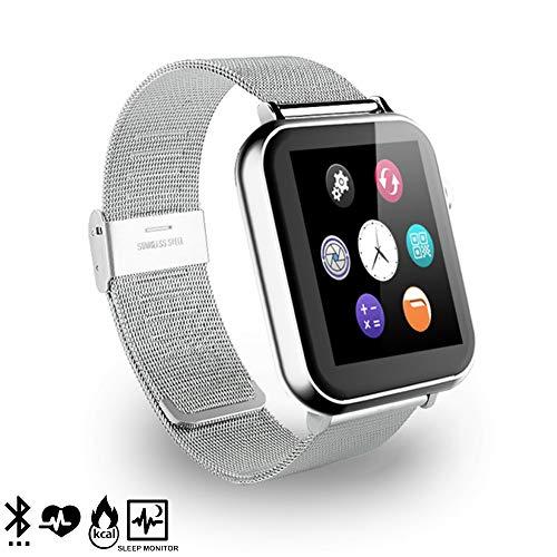 DAM. DMR088SLVSTEEL. Smartwatch A9 para iOS Y Android con Podómetro, Monitor Cardíaco Y Notificaciones para iOS. Bluetooth 4.0. Plata