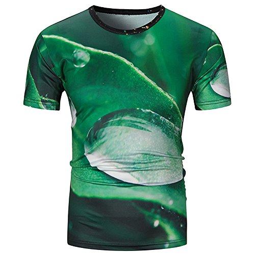 UFACE Herren Hawaii Hemd Palm Print Button Down Regular Fit Hemd Aloha Beach Freizeithemd Herren Sommer Freizeit Hemd Kurzarm Slim Fit 3D Reise Hawaiihemd für Männer t-Shirt Herren lustig