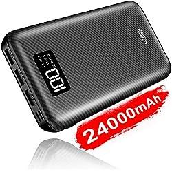 KEDRON Batterie Externe 24000mAh Power Bank Chargeur Portable Deux Entrées & 3 Ports Haute Vitesse Technologie Digi-Power Téléphone Android Tablette PSP D'Autre USB Via Device