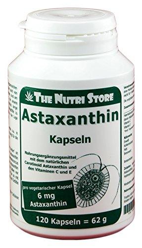 Astaxanthin 6 mg vegetarisch Kapseln 120 Stk. - Nahrungsergänzungsmittel mit dem natürlichen Carotinoid Astaxanthin und den Vitaminen C und E
