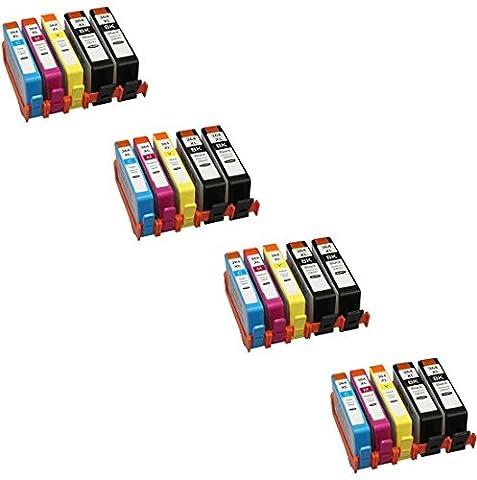 Prestige Cartridge HP 364 XL Pack de 20 Cartouches d'encre compatible avec Imprimante HP Deskjet/Officejet/Photosmart Séries, Noir/Cyan/Magenta/Jaune
