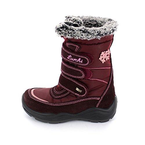 Lurchi Leska Tex Kinder Winterstiefel aus Veloursleder/Textil mit Tex-Membran in dunkelrot Wine 23