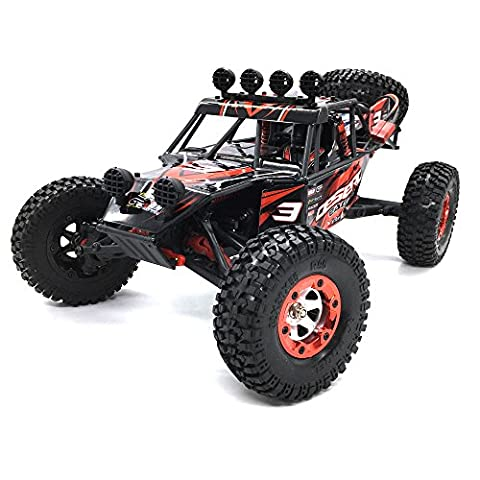 KELIWOW 2.4G 4WD 1:12 Remote Control Car Desert Buggy Offroad RC Truck RTR (Eagle 3 - Red)
