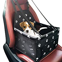 Pet Dog Car Booster Seat Carrier Portable Folding Carrier with Seat Belt for Dog Cat up to 25lbs