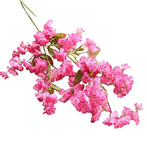 TianWlio Künstliche Gefälschte Kirschblüten Silk Flower Bridal Hydrangea Home Garden Decor