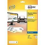 Avery J8159 Boîte de 240 Etiquettes Autocollantes pour Timbres (24 par Feuille) - 63,5x33,9mm - Impression Jet d'Encre - Blanc